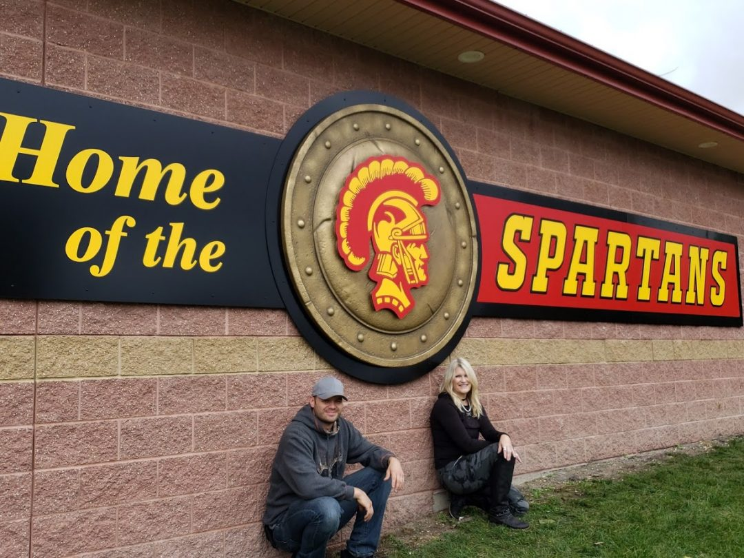 Sculpted Foam Sign Component for Home of the Sparta Spartans