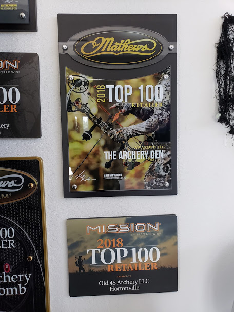 Custom Award Design - Mathews & Mission Top 100 Retailer Plaques