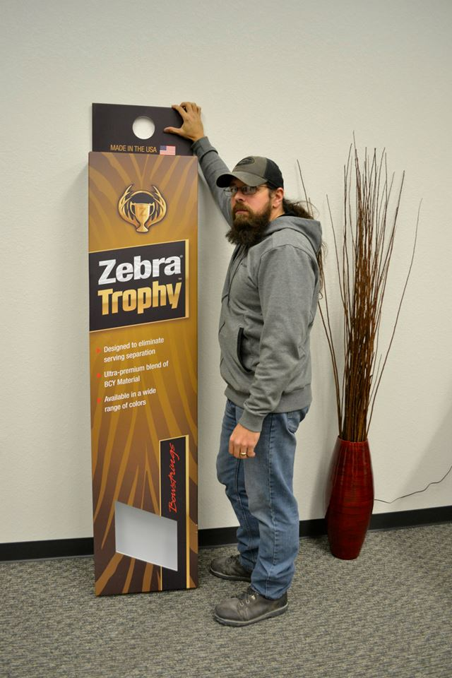 Trade Show & POP Elements - Infinity Foam Board Cut & Print - Mathews Zebra Bow Strings Product Display