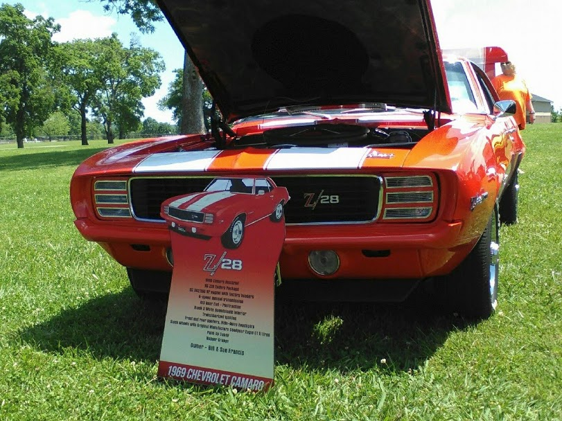 Car with Custom Car Show Display Sign
