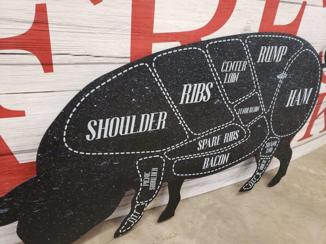 Grocery Store Pork Cuts - Custom Cut Foam & PVC Print