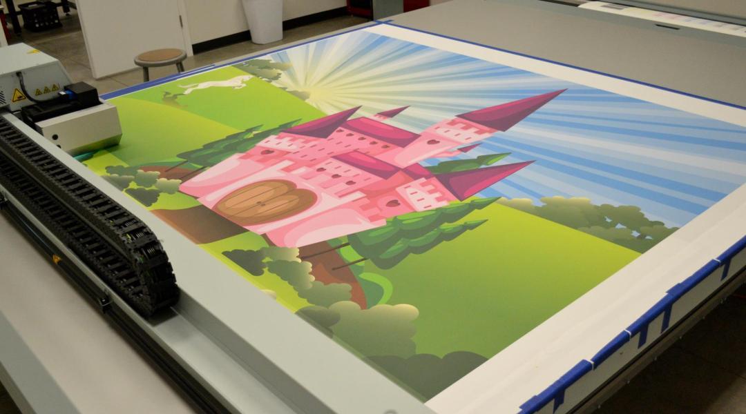 Princess Ball Backdrop - Fabric Print