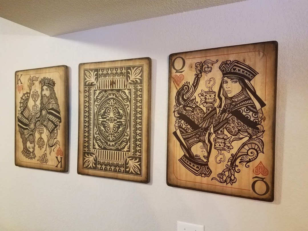 Wood Prints - King & Queen of Hearts