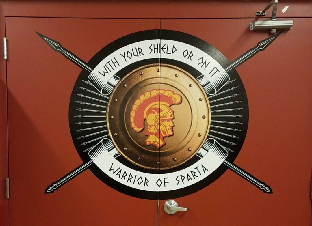 Sparta On Your Shield- Door Graphic Design