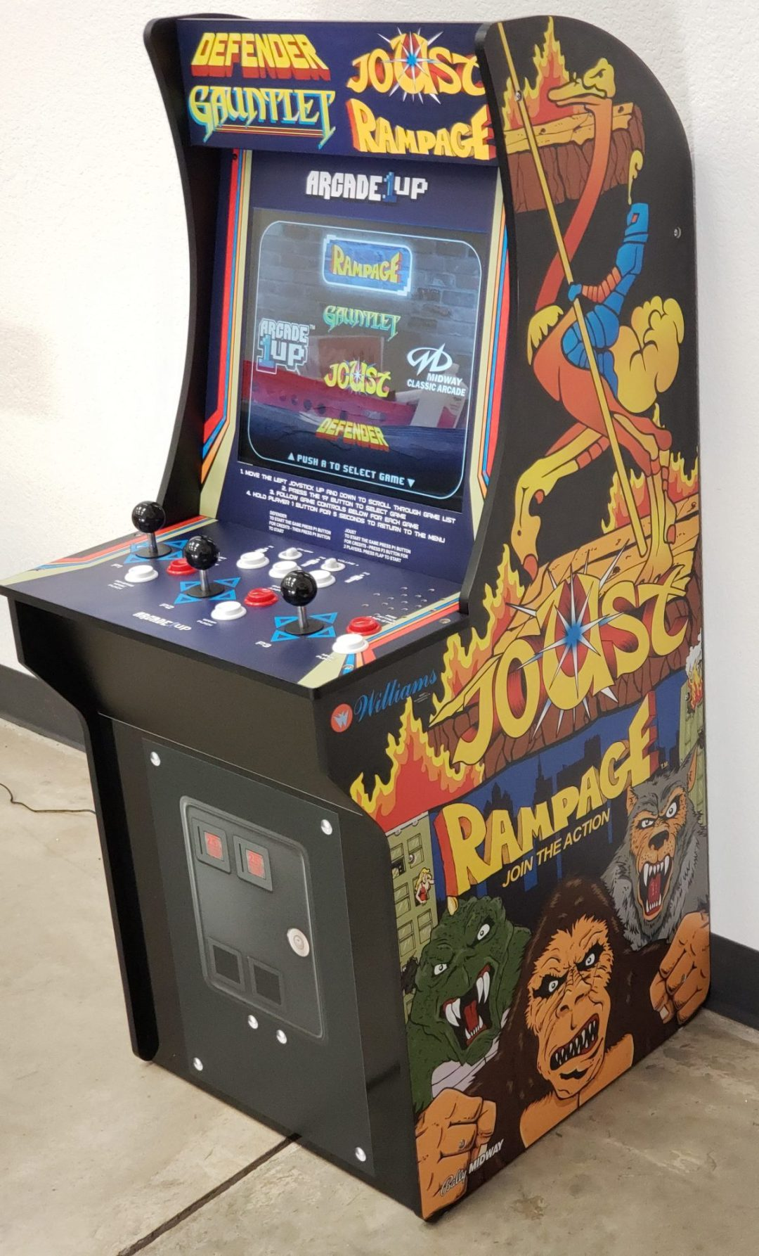 Stand Up Arcade Cab Graphics Redo