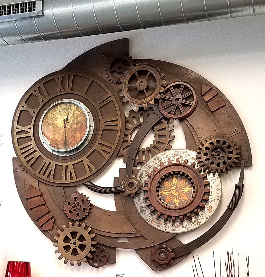 Sculpted Foam Steam Punk Oversized Clock