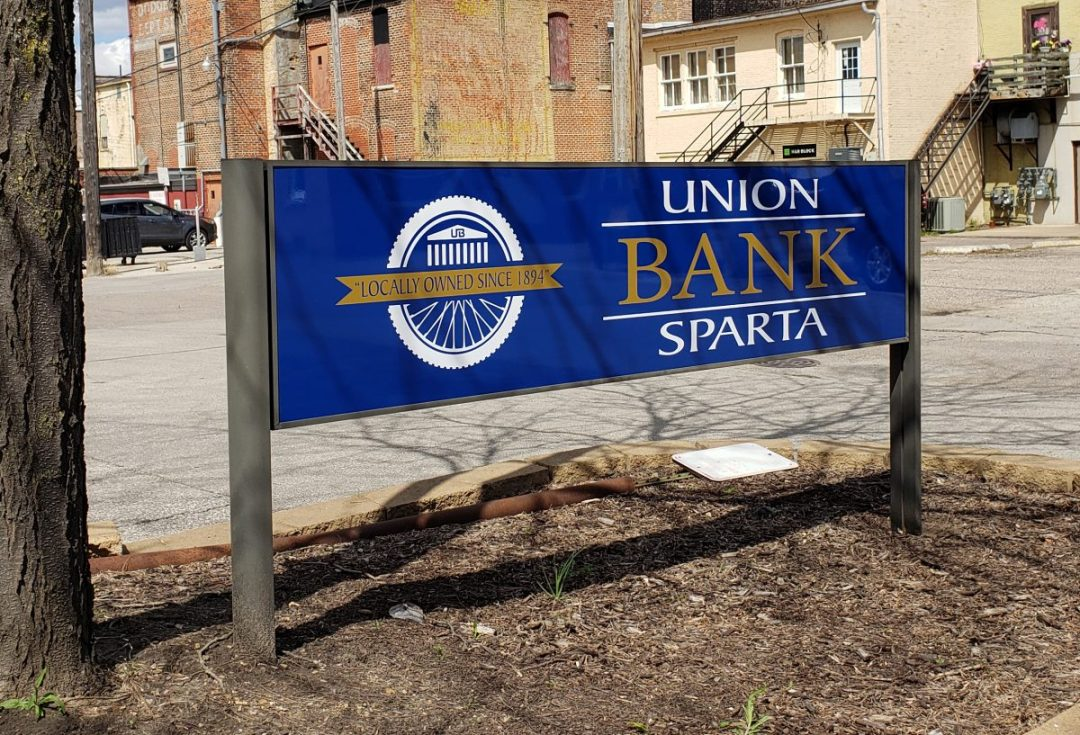 Union Bank of Sparta - Post & Panel Exterior Sign
