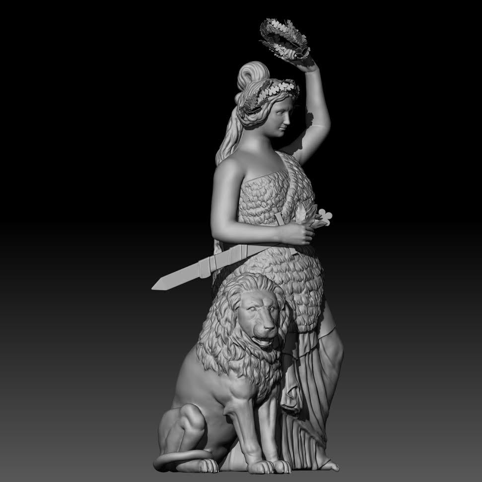 Bavarian Maiden 3-D Model Rendering