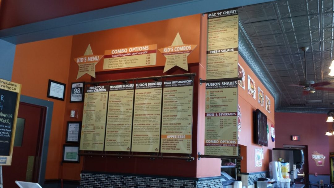 Burger Fusion Magnetic Menu Board