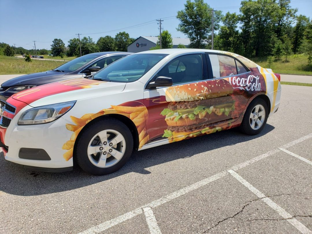 Custom Design - Mc Donalds Car Wrap