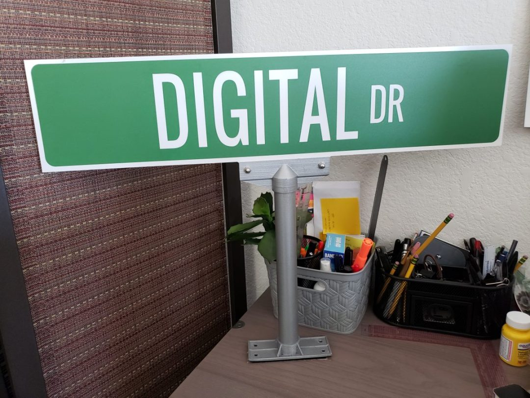 Custom Cut & Printed Office Cubicle Metal Sign