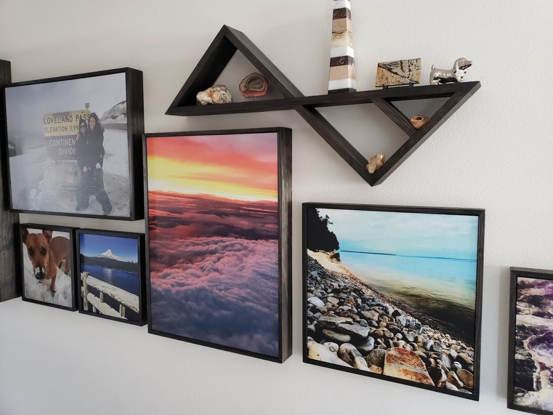 Custom Shadow Box Photo Frames & Shelves
