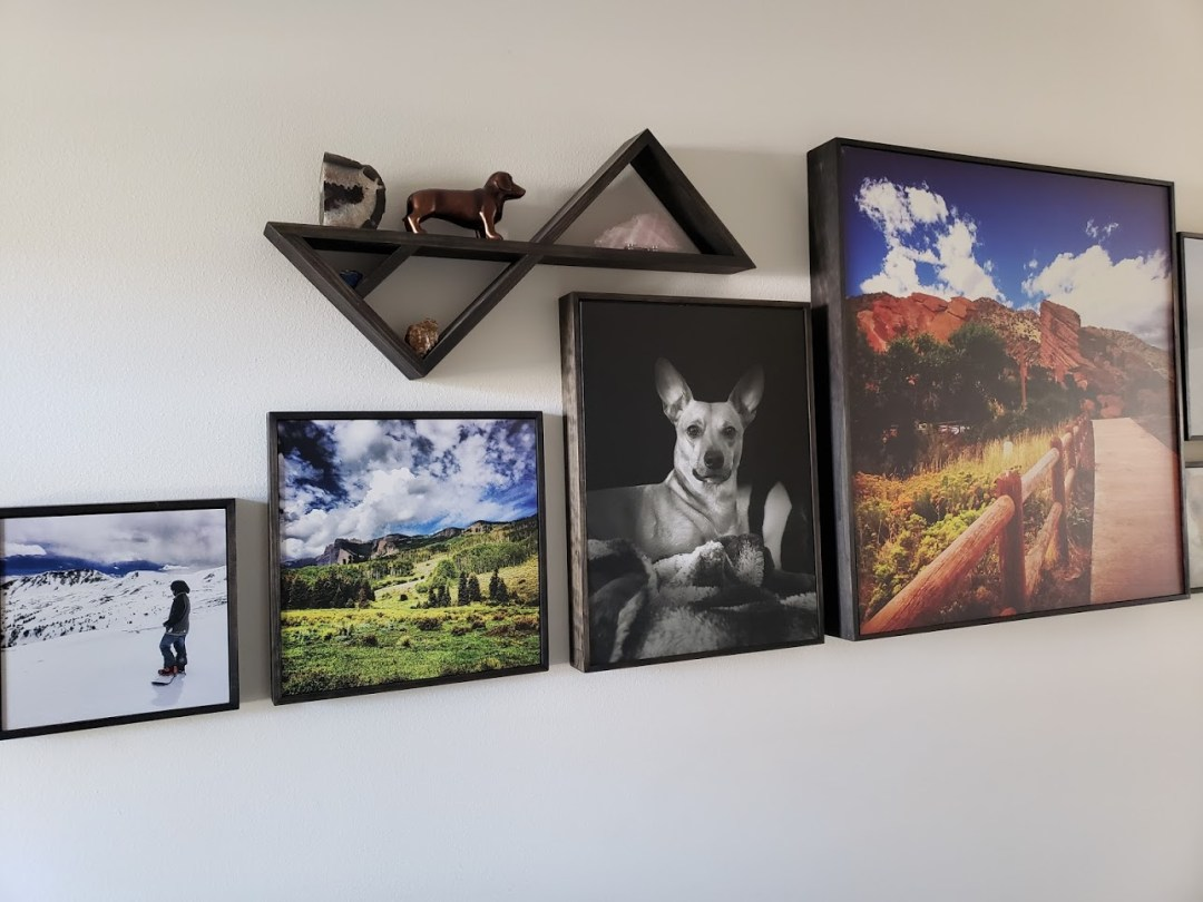 Custom Shadow Box Shelves & Photo Frames