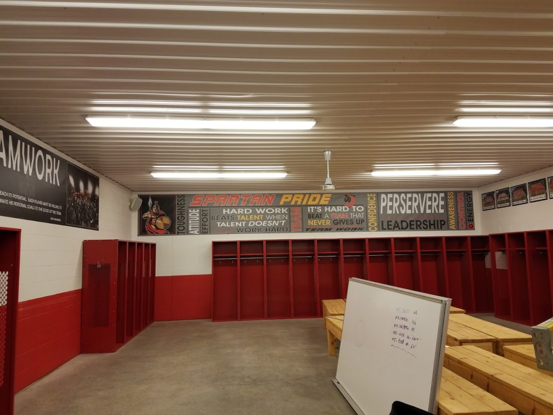 Sparta Grid Iron Club House Interior Decor  - Locker Room