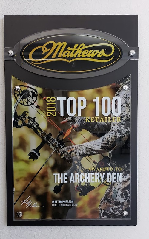 Digital Printing - Acrylic - Mathews Top 100 Retailer Awards