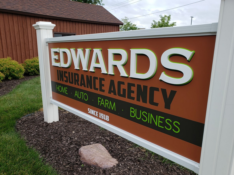 Dimensional Signage -Edwards Insurance