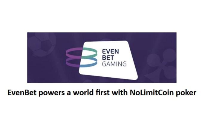 EvenBet powers a world first with NoLimitCoin poker