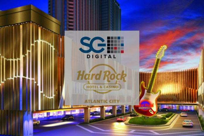 SG Digital Launches Full Suite of Content with Hard Rock New Jersey