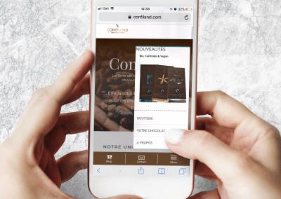 Confiland.com – web mobile