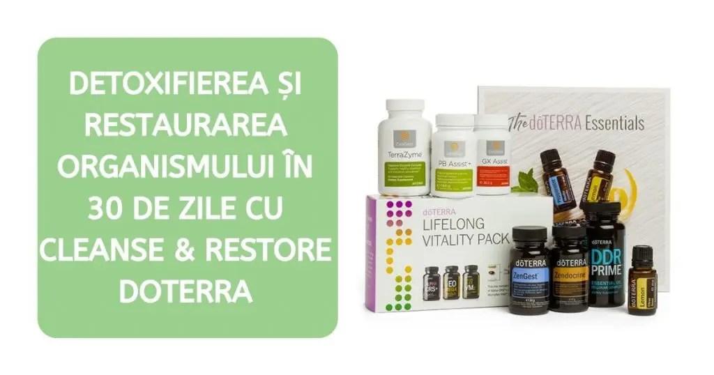 Detoxificarea organismului în 30 de zile cu produse doTerra