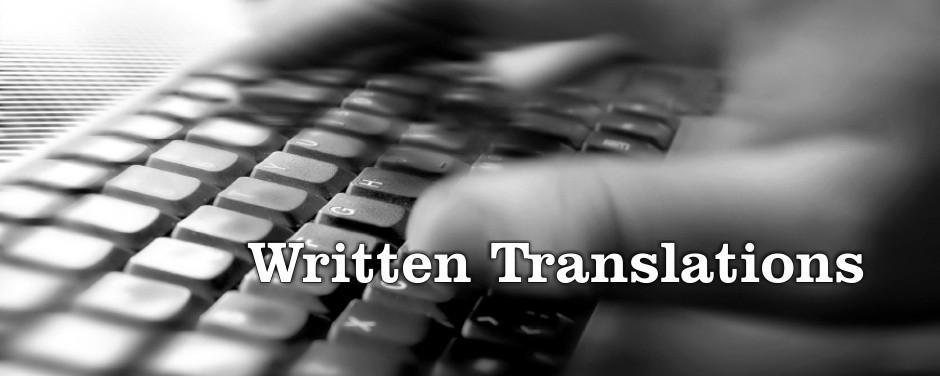 Written-Translations
