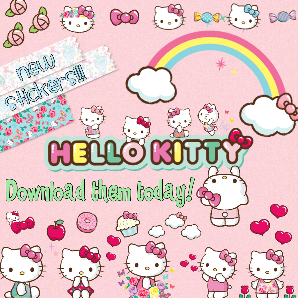 New Hello Kitty Stickers!  Piccollage