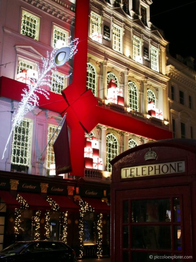 Christmas Decorations, Cartier New Bond Street London