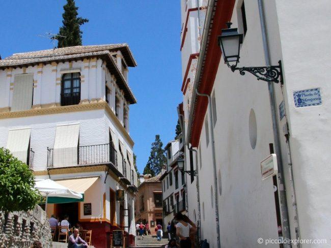 Steps from Plaza San Gregorio to Palacio Conde de Cabra, Granada