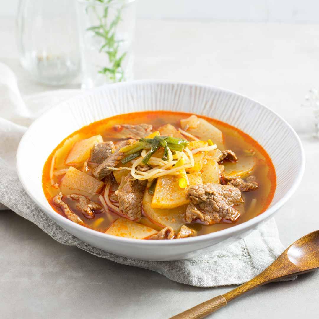 韓式辣牛肉白蘿蔔湯