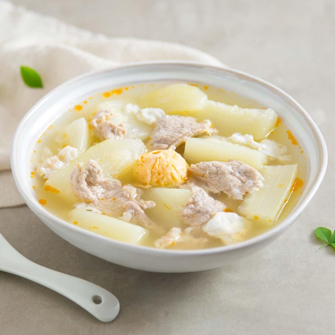 鹹蛋節瓜湯