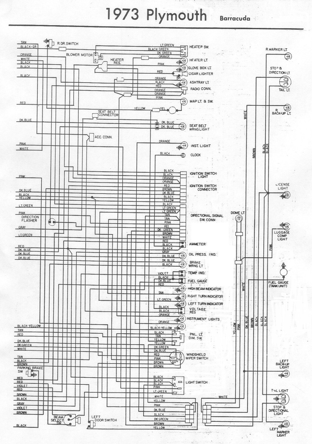 medium resolution of wiring diagram 1965 plymouth belvedere 1973 plymouth 1973 plymouth duster wiring diagram 74 cuda wiring diagram