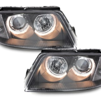 faruri drl led angel eyes vw passat b5.5