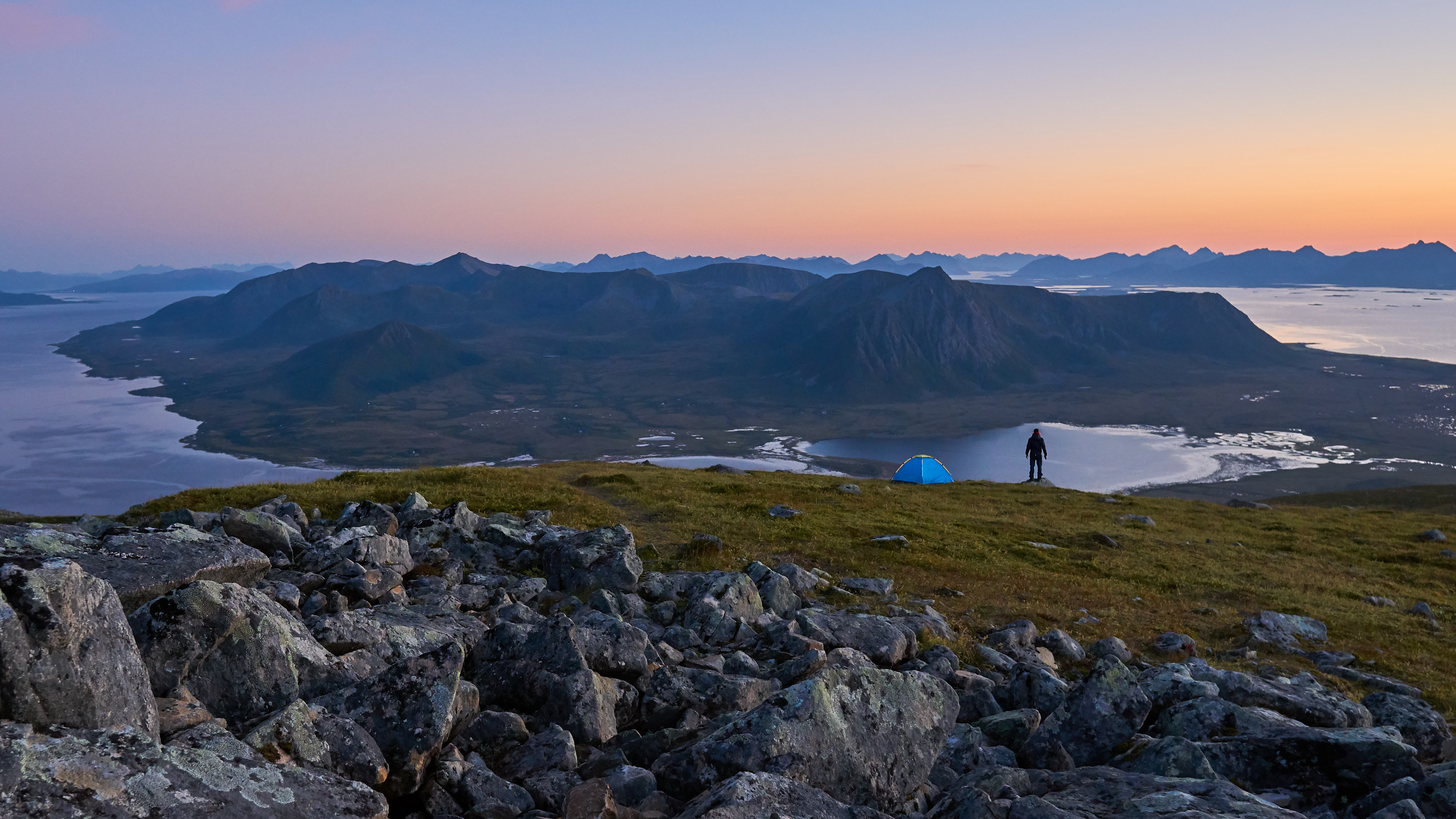 Download Camping in the Mountains of Northern Norway FREE Stock Photo