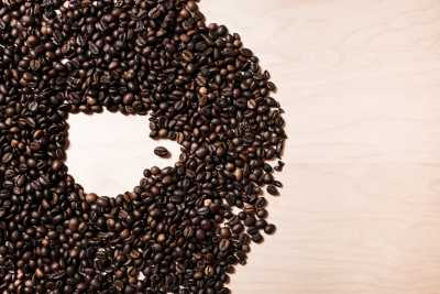 Download Coffee Cup Shape in Coffee Beans #2 Free Stock Photo