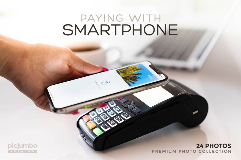 Paying with Smartphone — get it now in picjumbo PREMIUM!