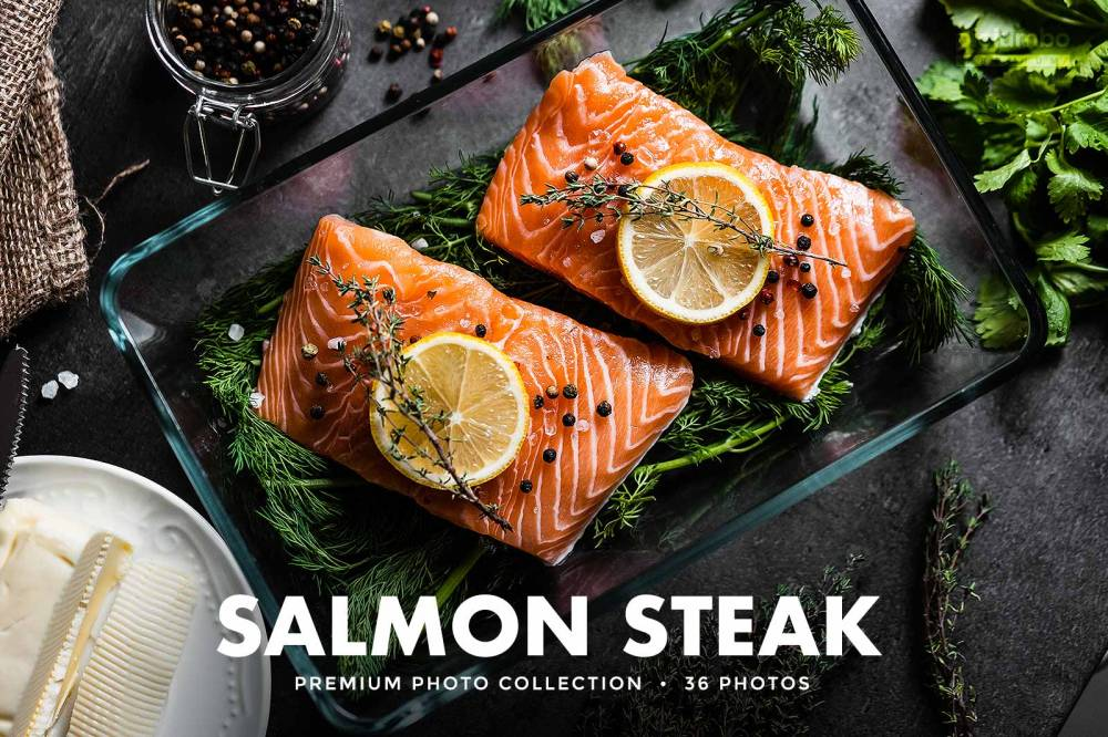 Salmon Steak — Join PREMIUM and get instant access to all photos from this collection!
