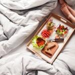 Young Woman Enjoying Morning Breakfast In Bed Free Stock Photo Picjumbo