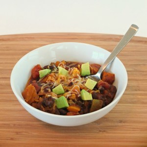 Vegetarian Black Bean and Squash Chili
