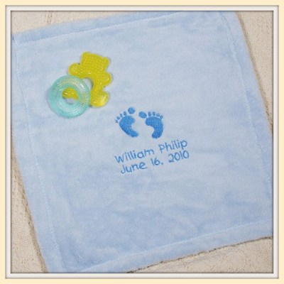 Embroidered Security Blankie