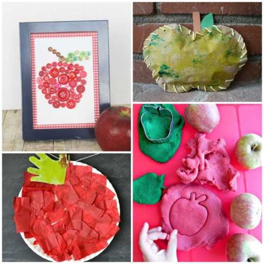 Awesome Apple Crafts for Kids Square