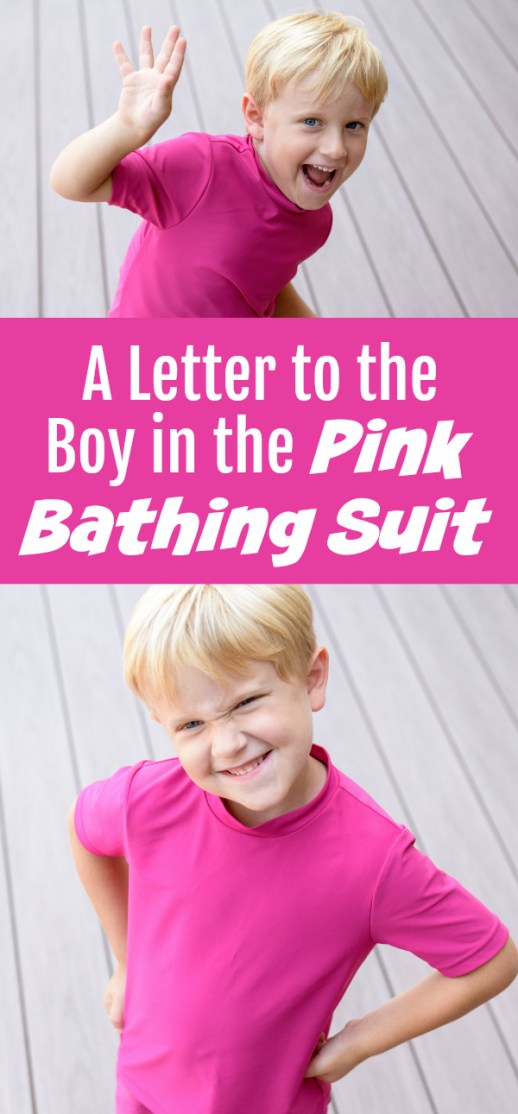 A Letter to the Boy in the Pink Bathing Suit