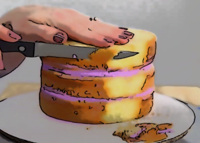 How to Learn Cake Decorating, Trimming the Cake