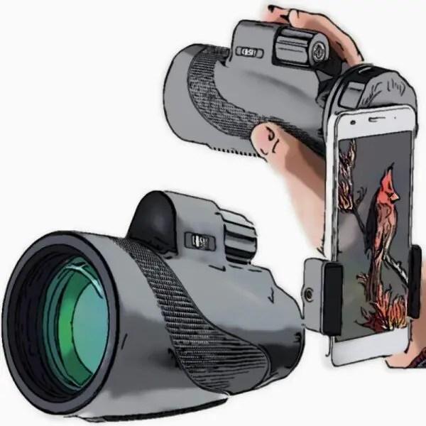 Prism Monocular with Quick Smartphone Holder