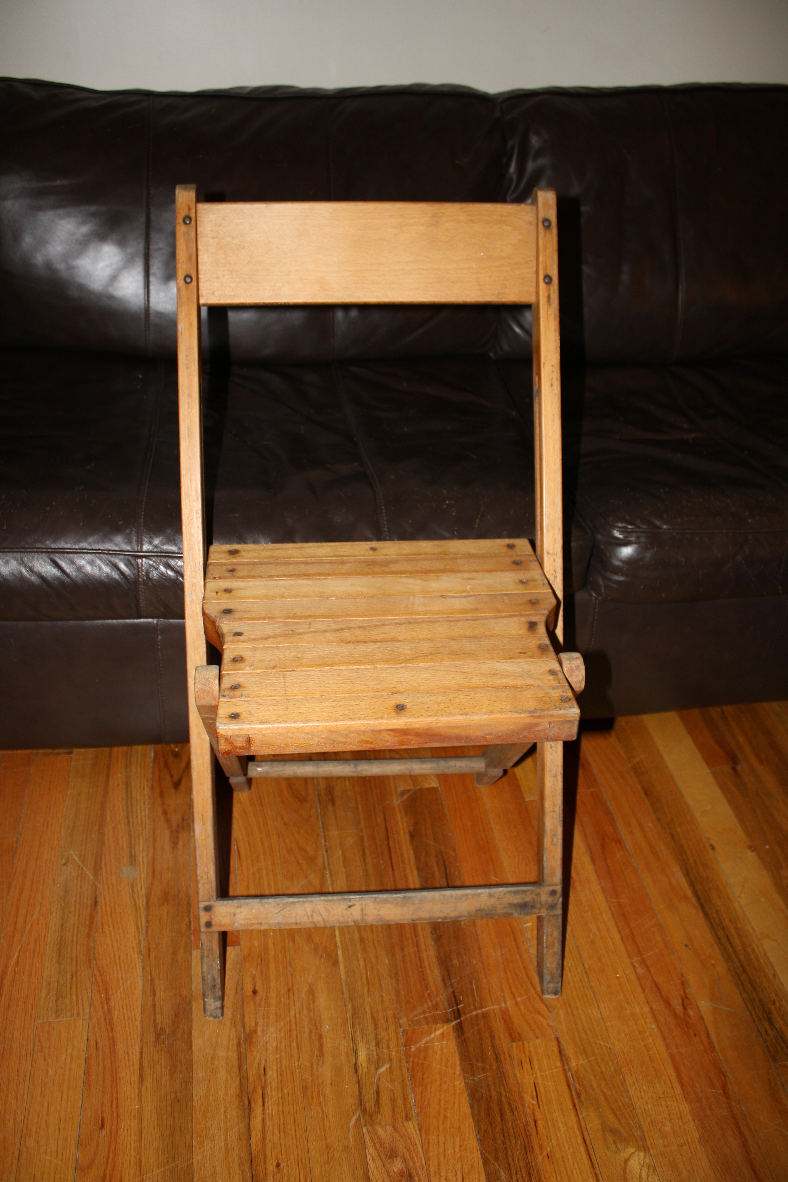 folding arm chair egg swing indoor vintage wood chairs   picked