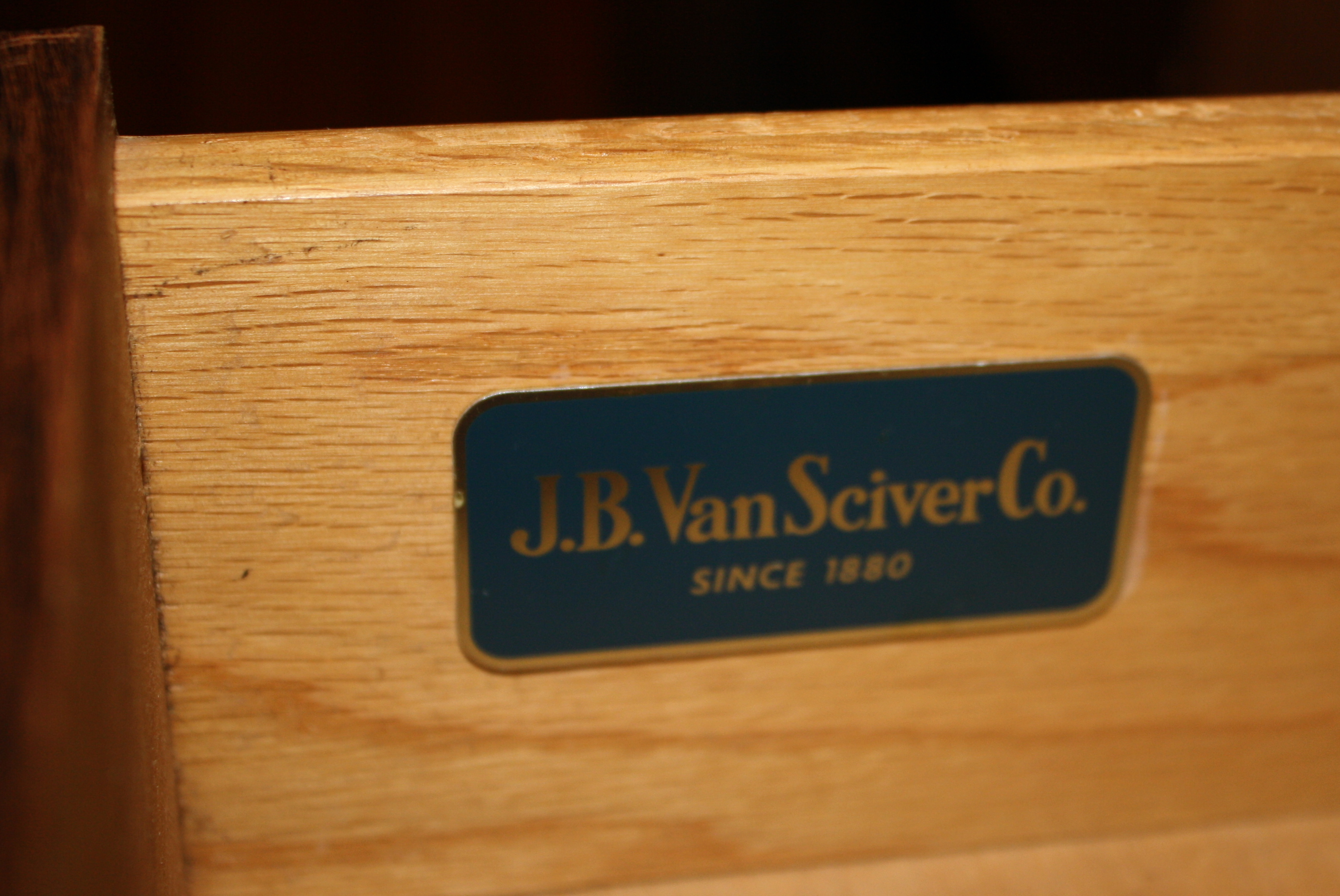 JB Van Sciver Co Side End Tables  Beautiful Wood