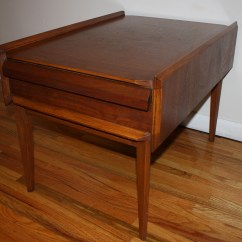 Wood Folding Table And Chairs Power Lift Costco Lane Side End – A Beautiful Angle Or Two… | Picked Vintage