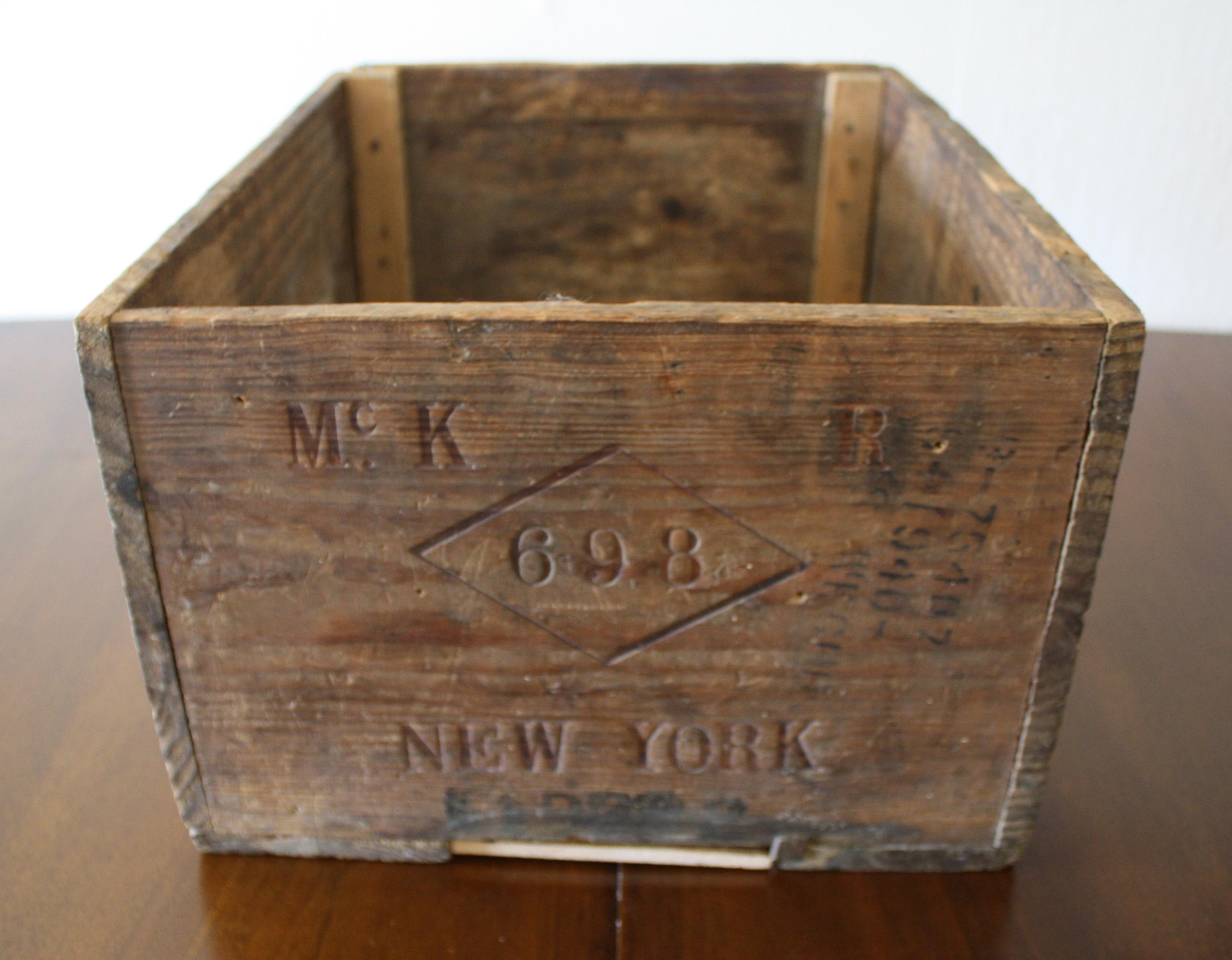 Vintage Wooden Wine Crate for Sandeman Port  Beautiful
