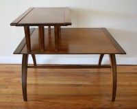 Mid Century Modern Tiered Side Table with Beautiful Arched ...
