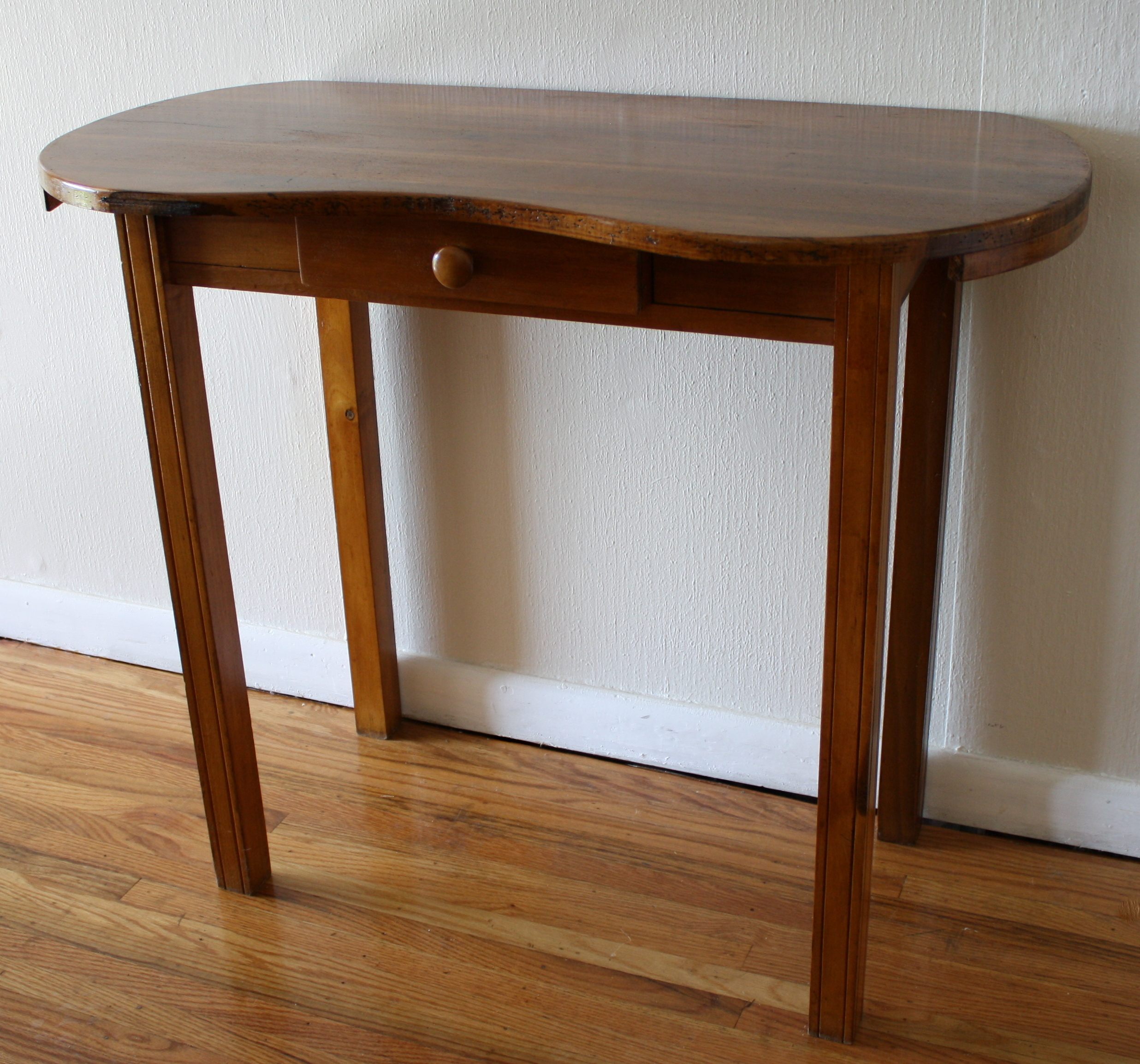 Petite Antique Kidney Vanity Table  Picked Vintage