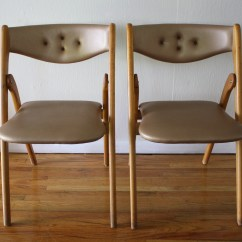 Modern Folding Chair High Patio Chairs Mid Century Coronet Picked Vintage